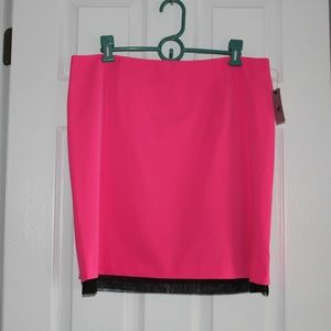 Hot Pink Mid Length Skirt
